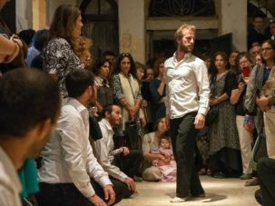 Start the Show: Dancers perform at the opening of the Jerusalem Biennale.