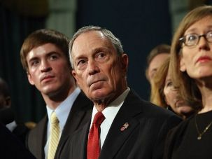 Not Again: New York Mayor Michael Bloomberg joins victims of previous mass shootings to call for new gun control measures.