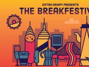Breakfast lover's dream: a 2-day-long breakfast food festival in New York City over Labor Day Weekend.