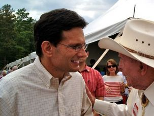Running Hard: Eric Cantor represents a safe Republican seat in Virginia. But in a tricky political climate, he is campaigning harder than ever.