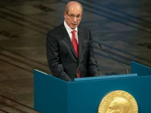 Working for Peace: Ahmet Uzumcu, head of the Organisation for the Prohibition of Chemical Weapons, accepted a Nobel Peace Prize on behalf of his organization in 2013.