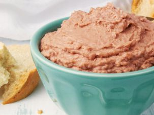 What sets this chopped liver apart is the use of beef liver instead of chicken liver.