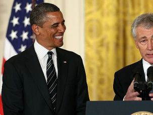 Military Man: President Obama introduced ex-Sen. Chuck Hagel as a hard-headed patriot. He might have gained the upper hand in his battle to win confirmation as the next Pentagon chief.