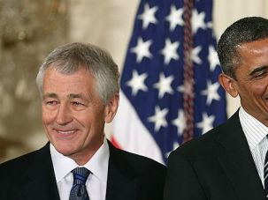 All Smiles: By nominating Chuck Hagel, President Obama showed he was ready for a fight. If and when he wins, it may embolden him to pursue his own path on the Mideast.