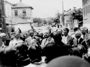 Righteous Fight: Dimitar Peshev, then a senior Bulgarian official, pleads with local officials to block deportation of Jews in 1942.