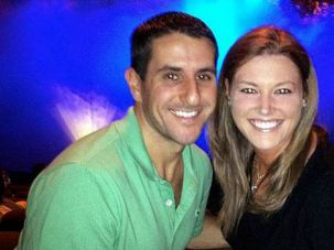 Doomed: Justin Friedland, left, was shot dead in front of his horrified wife, Jamie, at an upscale N.J. mall.
