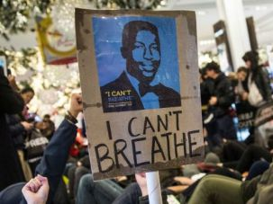 I Can't Breath: Demonstrators protest the decision of a grand jury not to indict a N.Y. police officer in the chokehold death of Eric Garner.