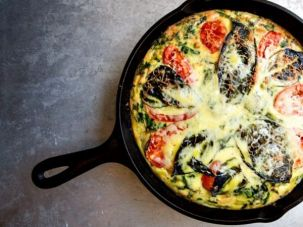 Farmer Daron Joffe's Yard-to-Table Broccoli-Leek Frittata. (The recipe is below.)
