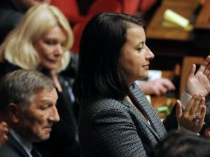 French lawmaker cheers vote to push for recognition of 'Palestine' as a state.