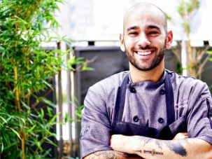 Green Fig Chef Gabriel Israel says his favorite latkes of all time are his mom's.