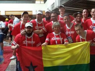 Unlikliest Team: The Maccabiah delegation from Guinea-Bissau gets asked a lot of questions. The most common is: Where?