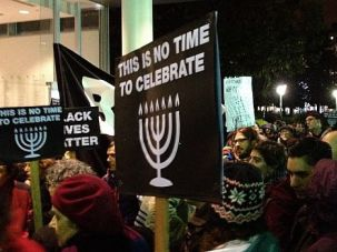 Time for Anger: Jewish protesters march against racism and police brutality in San Francisco on first night of Hanukkah.
