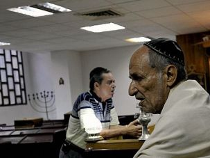 New Normal: Cuban Jews worship at the Adath Israel congregation in Havana. The island's community is poised for dramatic change now that relations with the U.S. are being normalized.