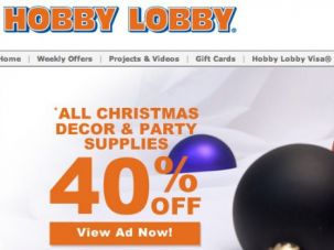 What About Us: Hobby Lobby already has Christmas-related promotions on its web site. But Jewish consumers say the crafts chain shuns Hanukkah merchandise.
