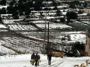 Winter Wonderland: Israel was blanketed with snow as a rare winter storm slammed into the Holy Land, snarling traffic and closing schools.