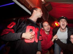 Super Sabra: Football fans partied long after midnight as Super Bowl fever reached Tel Aviv.