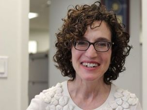 Honored: Forward editor Jane Eisner celebrates her latest award from the Society of Professional Journalists.
