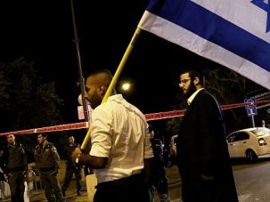Temple Feud : Israelis demonstrate after shooting of Temple Mount activist Yehuda Glick.