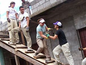 Helping Hand: Jewish students help construct a food storage facility in Honduras during a 2007 mission sponsored by American Jewish World Service.