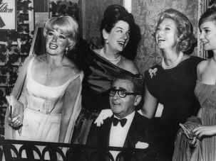 Berlin?s Harem: Composer Irving Berlin serenades some of songdom?s leading ladies, including Dinah Shore, second from right.