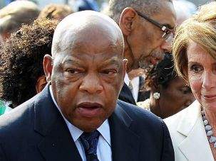 John Lewis with House Democratic Leader Nancy Pelosi.