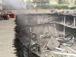 Destroyed: The remains of the Westgate Mall in Nairobi after Kenyan security retook the complex from Islamic militants.