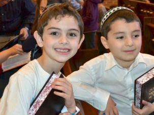 Open and Shut: Seven-year-old Lucas Ludvig, left, and his friend Elan Ronen were forced to find new schools after the Solomon Schechter School of the Raritan Valley abruptly announced it would not reopen this fall.