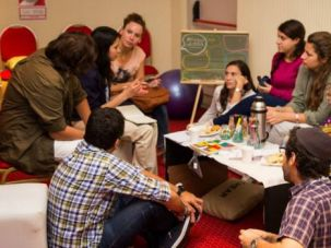 Shrinking: Participants discuss the problem of shrinking Jewish communities in Latin America.
