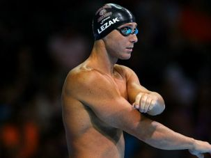 California Boy: Despite winning four gold medals, Olympic swimmer Jason Lezak remains active in the Jewish community is Orange County, where he grew up.