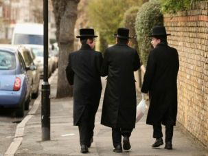 No to Hatred: The Orthodox Shomrim security patrol will help protect a mosque in the heavily Jewish Hackney section of London.