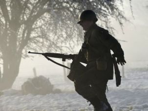 Actors reenact Battle of the Bulge in Luxembourg. Like other small nations, the Alsacian principality had falsely downplayed its historic cooperation with Nazi Germany.