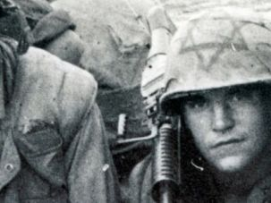 Semper Fi: A U.S. Marine in Vietnam features the Magen David on his helmet, circa 1968.