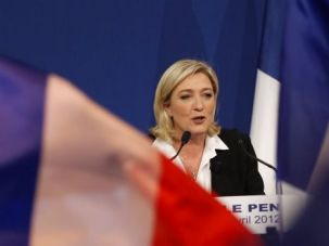 Growing Threat: Far right leader Marine Le Pen is rising in popularity in France.
