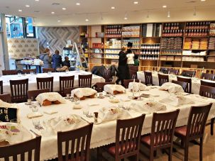 Masbia Soup Kitchen Network's new Boro Park location, set up for Shabbat.