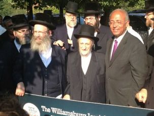 A Divided Bloc: Some Satmar Hasidim are vowing to deliver Brooklyn ultra-Orthodox voters to Bill Thompson in the Democratic mayoral primary, while others are putting their weight behind Bill de Blasio.