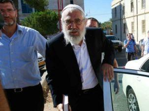 Guilty: Rabbi Moti Elon walks into a courthouse in Jerusalem.