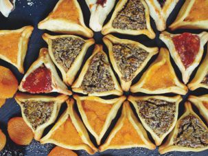 A magnificent array of hamantaschen from Joan Nathan's new 'King Solomon's Table.'
