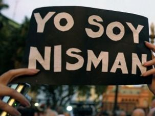 We're All Nisman: Demonstrators rally against the government in Argentina after the death of prosecutor Alberto Nisman.