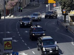 Black Car Breakdown: One of President Obama?s limousines broke down in Jerusalem. Officials insisted the snafu did not prevent him from moving around as planned.