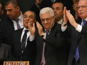Premature Celebration? Mahmoud Abbas celebrated the Palestinian statehood win at the United Nations. But pro-Israel lawmakers are looking for ways to punish him for the audacious move.