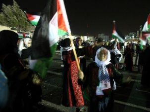 Free at Last: Relatives of freed Palestinian prisoners gather to welcome them home in the West Bank.