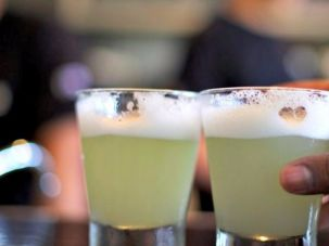 Pisco sours are making their way from Peru to Israel.