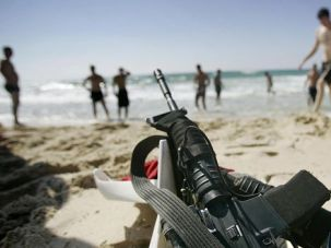 To outsiders Israel may seem like a gun-loving country, but in truth most of those guns are carried by active-duty military, like these soldiers on vacation.