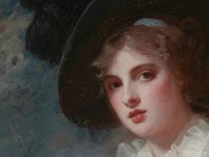 """Portrait of Emma Hart,"" by the English artist George Romney, was among the prized works donated to the Museum of Fine Arts in Boston by a member of the famed Rothschild family."