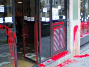 The Cantinho do Avillez restaurant in Porto, Portugal, following vandalism on November 19.
