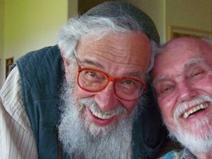 An Inspiration : 					Zalman Schachter-Shalomi (left) and Ram Dass in February 2008.