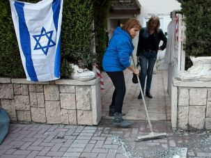 Terror Rockets: Human Rights Watch says rocket attacks like this one on Israeli civilians violate the rules of war.