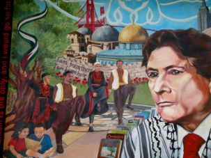 A San Francisco college mural celebrates the legacy of Palestinian academic Edward Said.