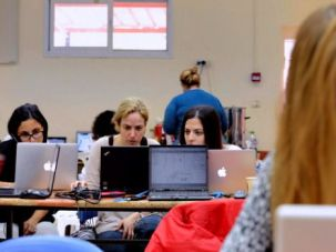 She Codes: Inaugural Shecon hackathon at Givat Haviva, November 21, 2014.