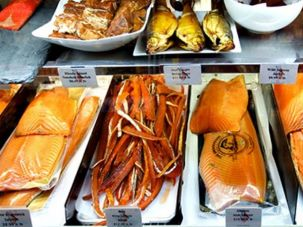 Smoked and cured fish from Shelsksy's of Brooklyn.